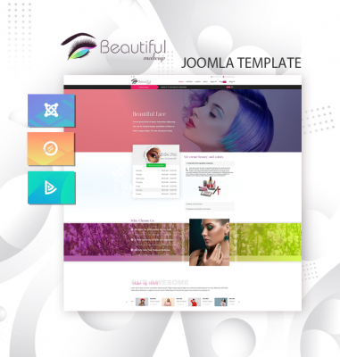 DD MAKEUP STUDIO 123  - Joomla template