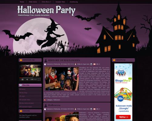 DD Halloween 49 Joomla 2.5 i 3.6 Responsive template