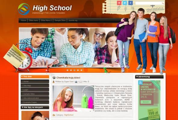 HIGHSCHOOL 43 JOOMLA 2.5 I 3.3 RESPONSIVE TEMPLATE
