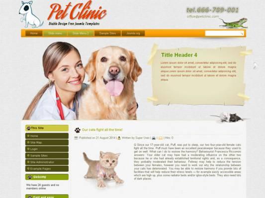 PET CLINIC 42 JOOMLA 2.5 I 3.3 RESPONSIVE TEMPLATE