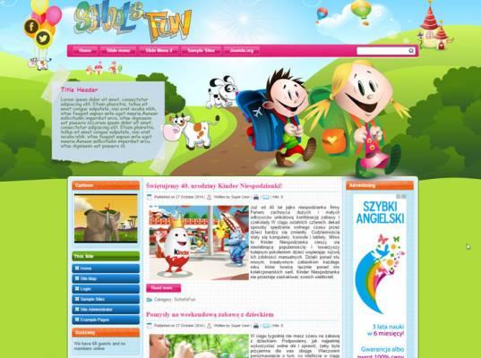 DD School'sFun 48 Joomla 2.5 i 3.6 Responsive template