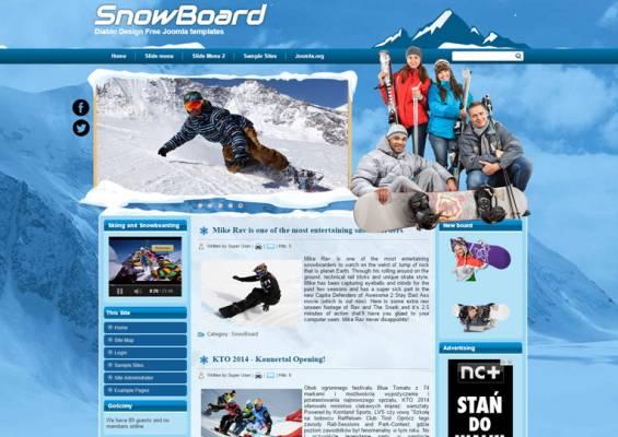 DD SnowBoard 46 Joomla 2.5 i 3.6 Responsive template