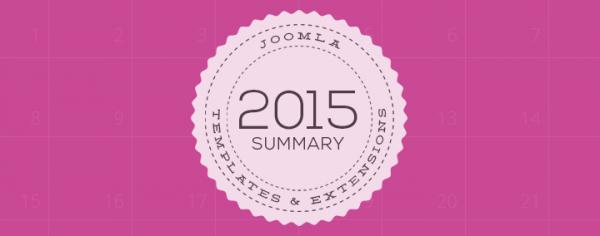 Joomla templates from Joomla-Monster - 2015 summary