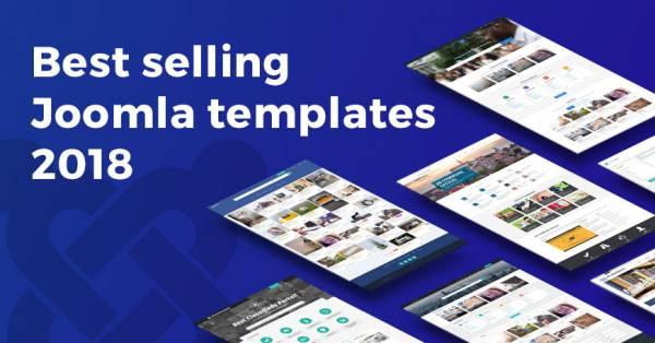 2018's best selling Joomla templates on Joomla-Monster