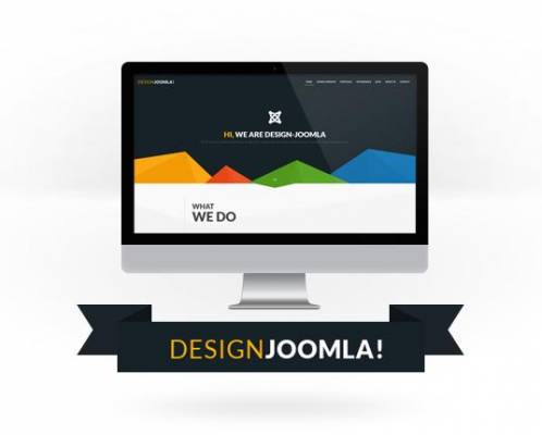 Redesigned website of Design-Joomla