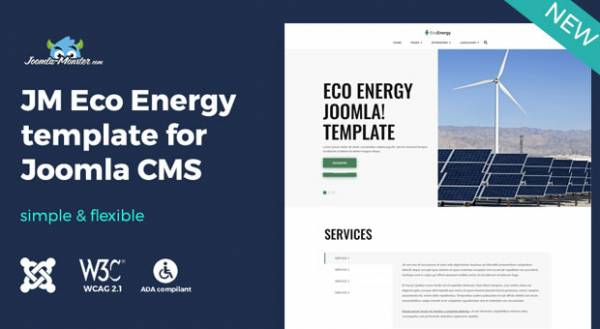 Meet eco energy Joomla template with WCAG and ADA compliance