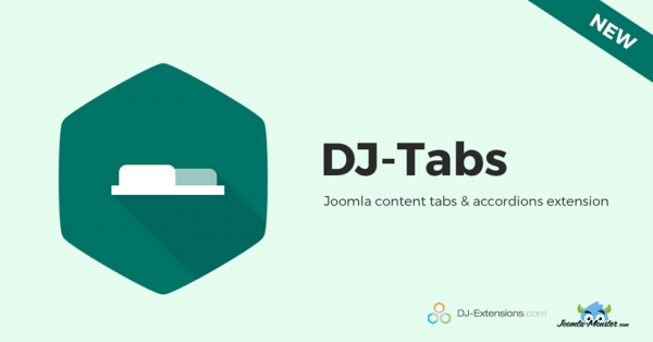 DJ-Tabs Joomla tabs extension added to Joomla-Monster repository