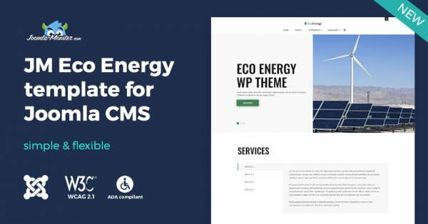 JM Eco Energy - multipurpose Joomla template with WCAG compliance