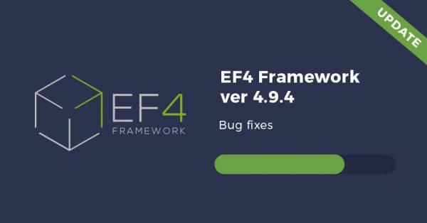 EF4 Framework 4.9.4 update