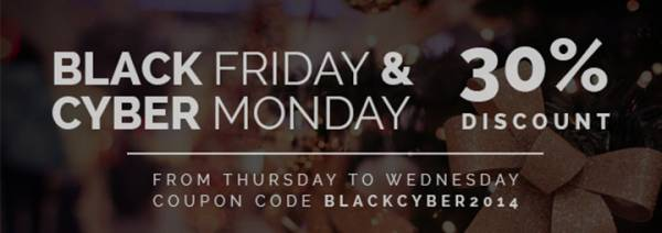 Black Friday/Cyber Monday discount