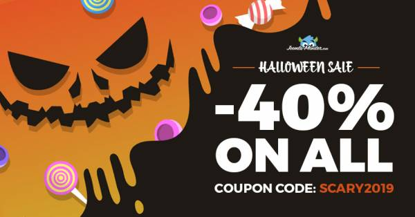 Halloween sale! All Joomla templates and extensions are 40% OFF