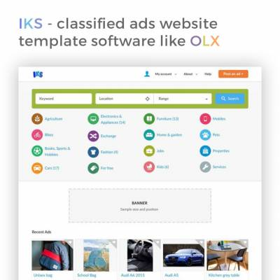 IKS - classified ads website template