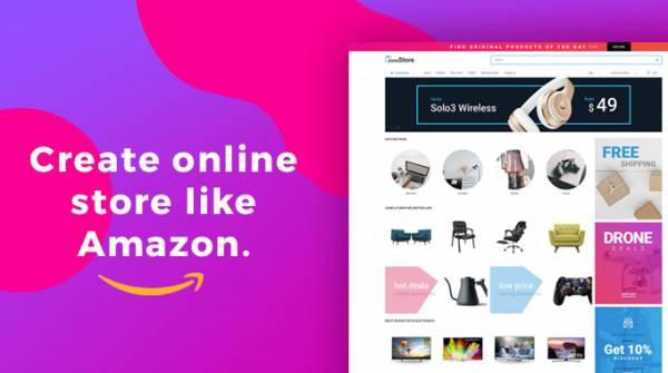 ZoneStore - online store like Amazon. Description for front page elements - part one.