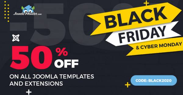 Black Friday SALE. Joomla templates and extensions are 50% OFF.