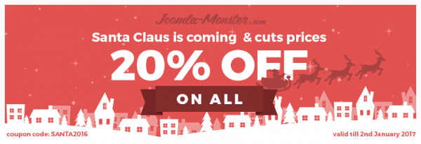 Christmas sale - 20% discount on all!