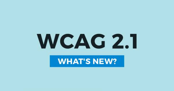 WCAG 2.1 guidelines. What's new we may expect?