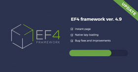 EF4 Joomla Framework updated with new features
