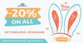 Easter sale! Joomla templates 20% OFF