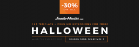 Halloween discount on Joomla templates
