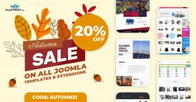 Autumn Sale - Joomla templates and extensions 20% OFF