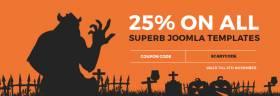 Halloween Joomla templates sale is running