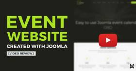 Building event website in 2 minutes video review about Joomla event template