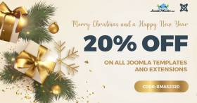 Christmas SALE - Joomla templates and extensions 20% OFF