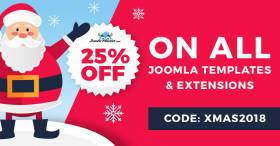 2018 Christmas discount on Joomla templates and extensions