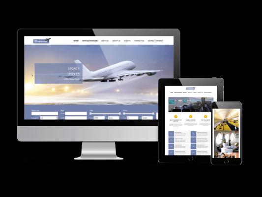 Jet Charter Flights Joomla template