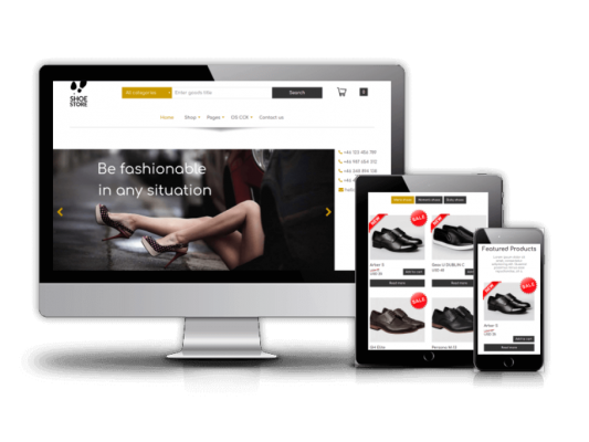 Free eCommerce template-Shoe Store