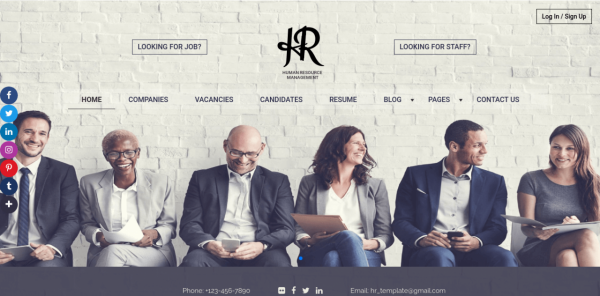 Meet a New HR website template for recruitment agency!