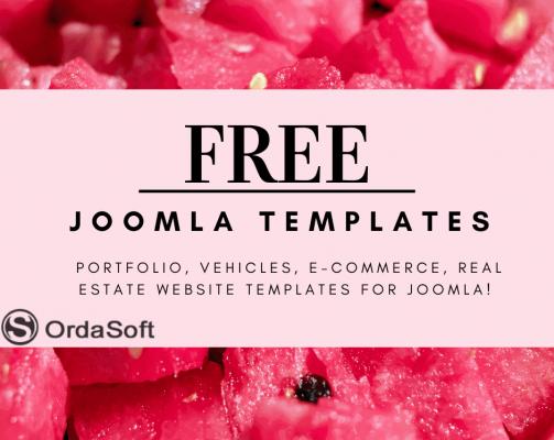 Big summer updates 2021 of free joomla templates from Ordasoft