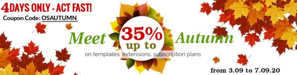 Meet Autumn with OrdaSoft sale !