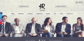 Meet a New HR website template for recruitment agency!