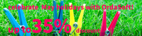 May holidays discount from OrdaSoft!