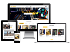 Web University -  education website template