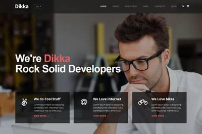 Dikka - a Business WordPress Theme by QX-Code