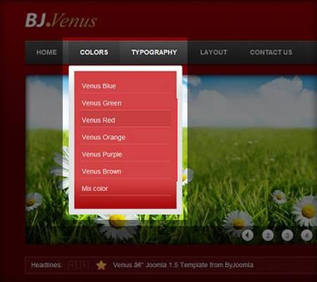 BJ Dropdown Menu - simple drop down menu for Joomla 2.5 by BYJOOMLA