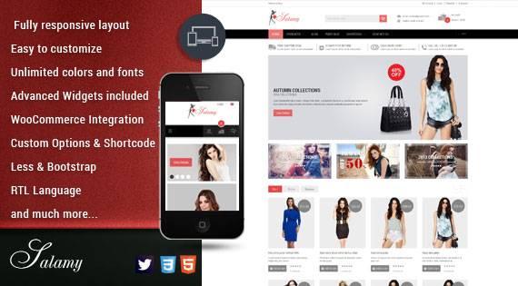 Say hello to SW Salamy - An elegant WordPress Theme for eCommerce websites