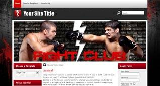 Fight Club - free Sport Template for Joomla 2.5 - Author: Themza - native to Joomla 1.7