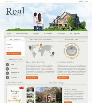 DJ-Real-Estate02 responsive Joomla 2.5 template