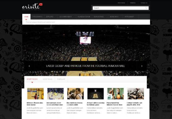 JA Orisite - fine Sport Template for Joomla 2.5 - ready for K2, VirtueMart and Kunena - Author: joomlart