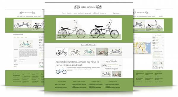 "Ordasoft Car Template ""Retro Bicycles"""