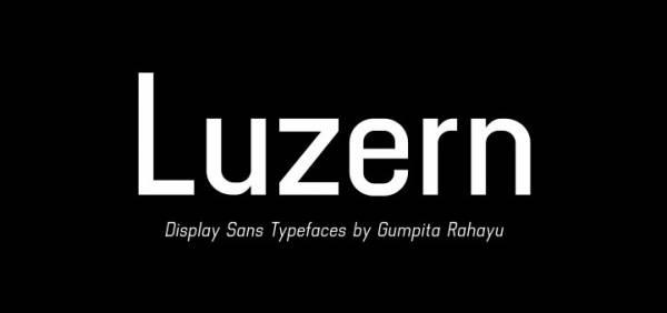 Luzern - Sans Serif Font by Gumpita Rahayu - Absolut Type Foundry