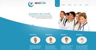 Medicom - AS Templates 002044 - Free Medical Template for Joomla 2.5 by AS Templates
