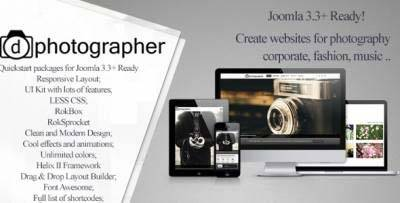 Photographer Joomla 3.x Theme