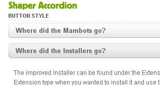 Shaper Accordion - Free Accordion Module for Joomla 2.5 and Joomla 3.0 by JoomShaper