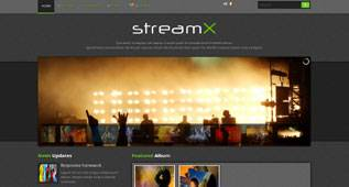 StreamX - Artist Template for Joomla 2.5 by Themexpert