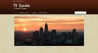 TK Evoke - free Simple and Minimal Template for Joomla 2.5 by Themekat