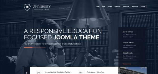 University - Joomla Template by GavickPro